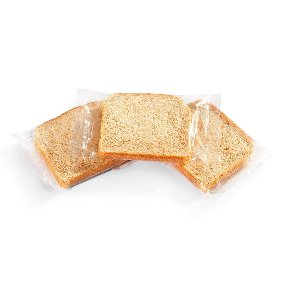 Individually Wrapped Wheat Bread Slice