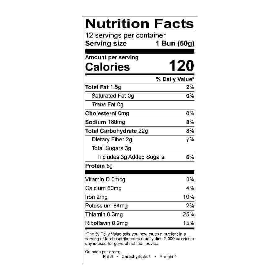 Whole Grain Hamburger Bun 3 1/2 in 12 Pk