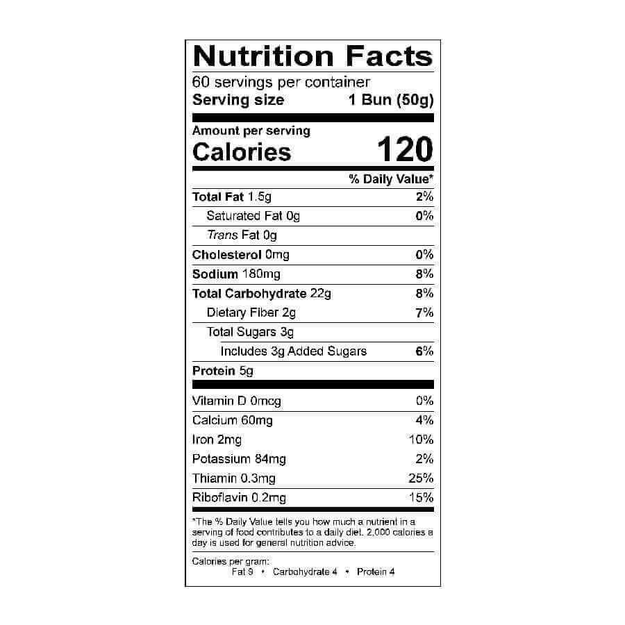 Whole Grain Hamburger Bun 3 1/2 in 60 Pk