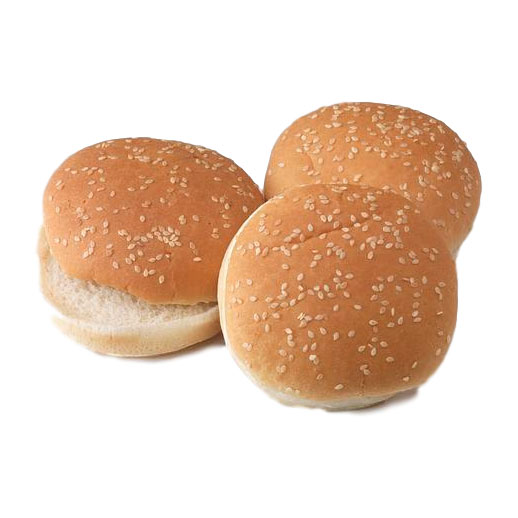 Sesame Seeded Hamburger Bun 4 in 60 Pk