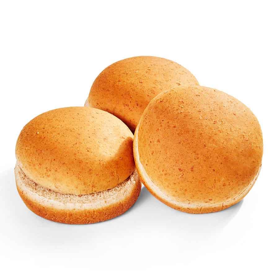 100% Whole Wheat Hamburger Bun 4 in