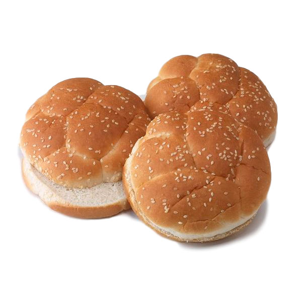 Cut Top Sesame Bun/ Cut-top Sesame Kaiser Bun (BC) 4 in