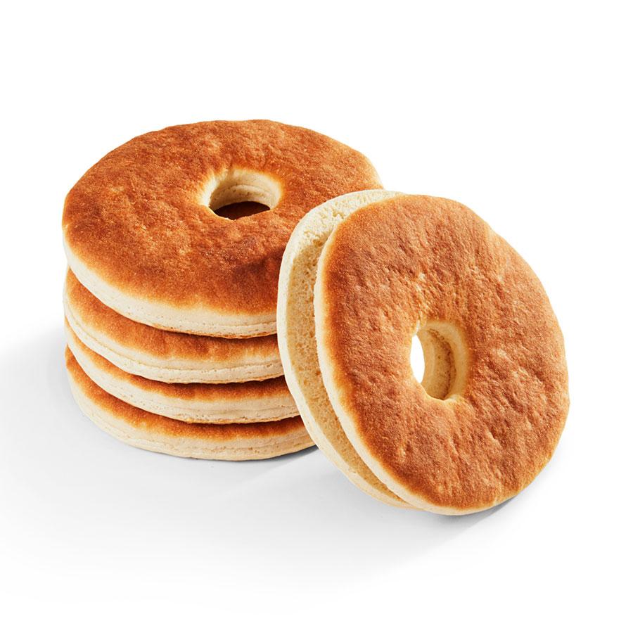 Plain Bagel Sliced Flatbread 4.25 in